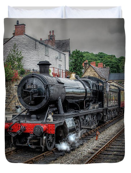 3802 At Llangollen Station Duvet Cover by Adrian Evans