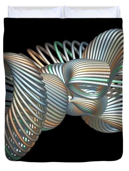 3d Fractal Klein Bottle Duvet Cover by Faye Symons