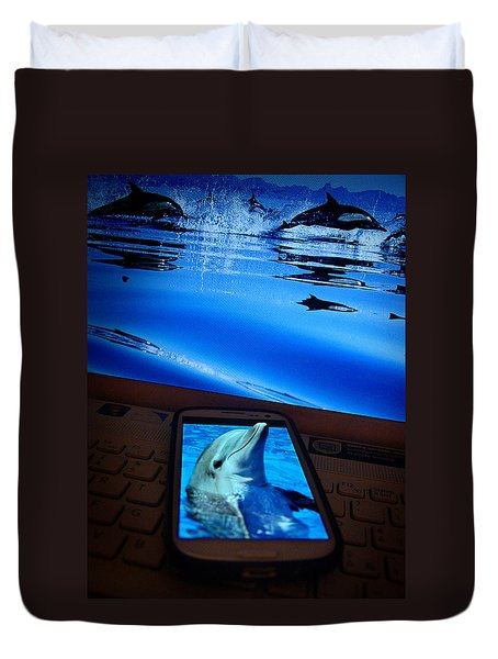 3d Phone... Duvet Cover