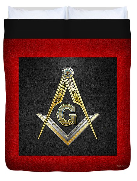 3rd Degree Mason - Master Mason Masonic Jewel  Duvet Cover