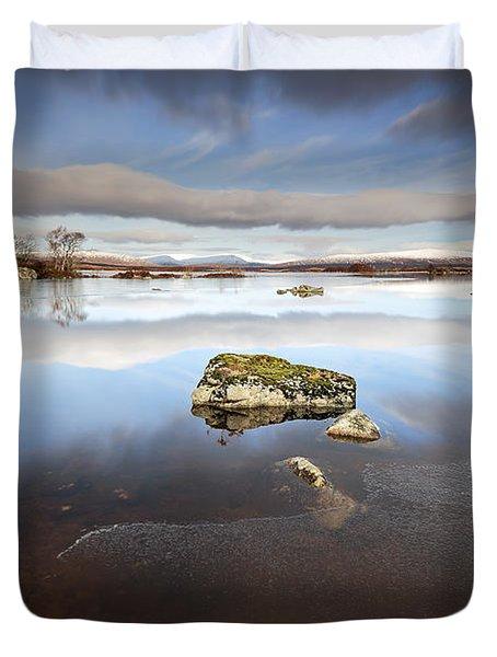 Lochan Na H-achlaise Duvet Cover by Grant Glendinning