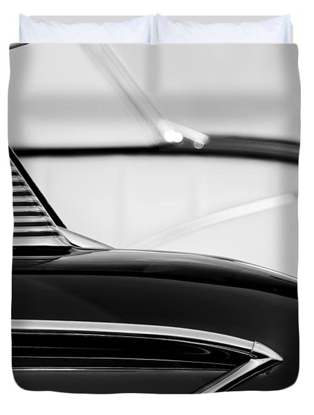 1958 Chevrolet Belair Abstract Duvet Cover