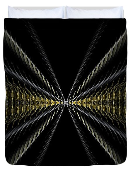 Abstract 100 Duvet Cover by J D Owen