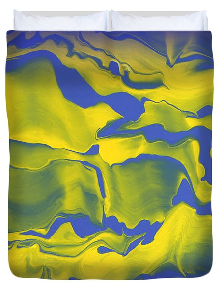 Abstract 106 Duvet Cover by J D Owen