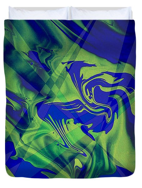 Abstract 32 Duvet Cover by J D Owen