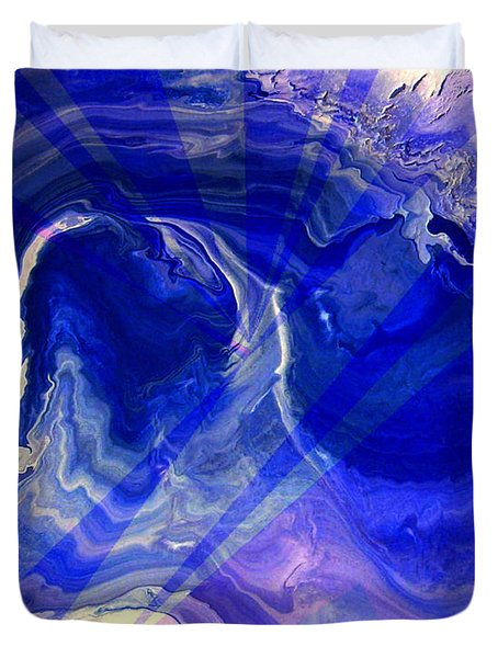 Abstract 36 Duvet Cover by J D Owen