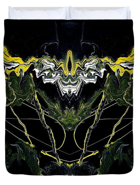 Abstract 42 Duvet Cover by J D Owen