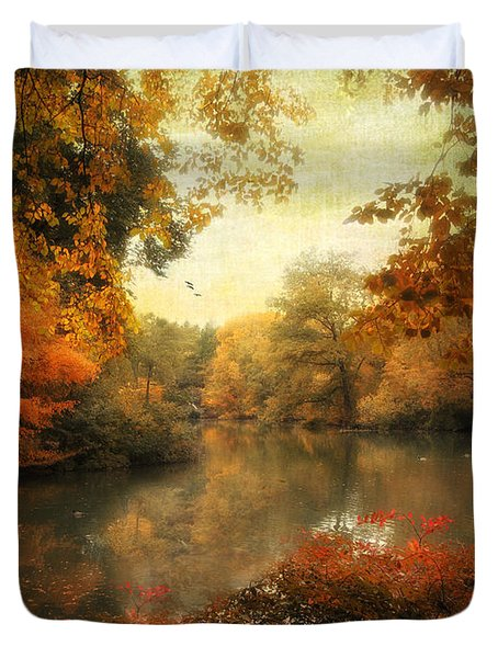 Autumn Afternoon  Duvet Cover by Jessica Jenney