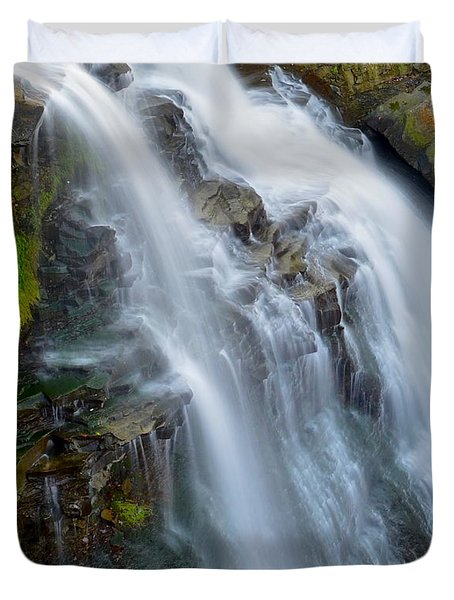 Brandywine Falls Duvet Cover by Frozen in Time Fine Art Photography