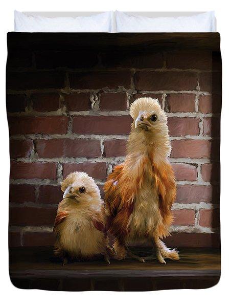 4. Brick Chicks Duvet Cover