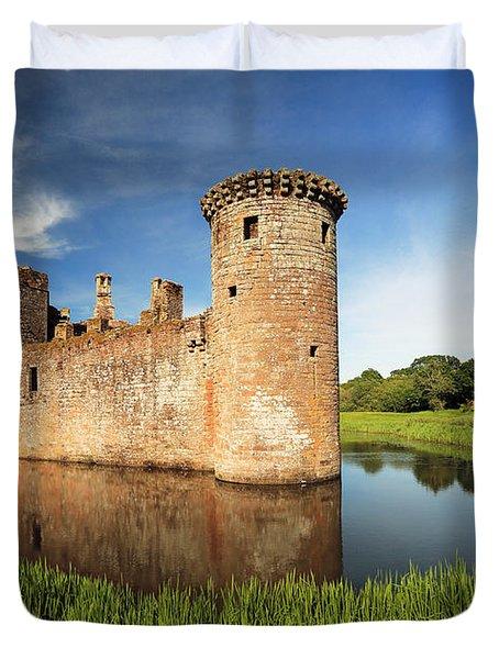 Caerlaverock Castle Duvet Cover by Grant Glendinning