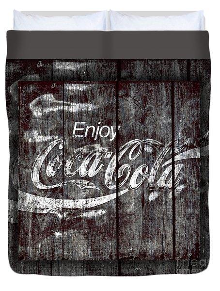 Coca Cola Sign Duvet Cover by John Stephens