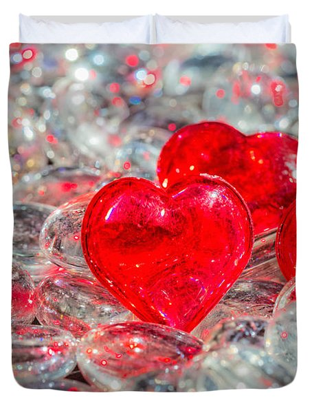 Crystal Heart Duvet Cover