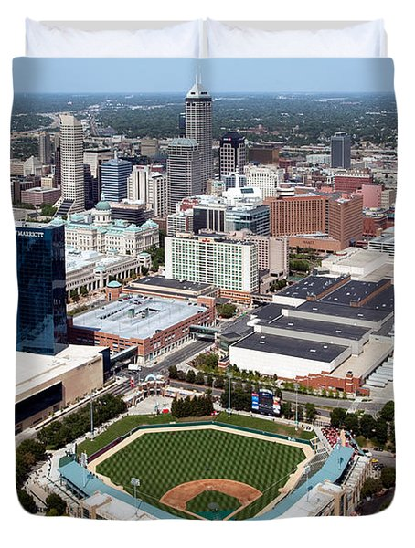 Downtown Indianpolis Indiana  Duvet Cover by Bill Cobb