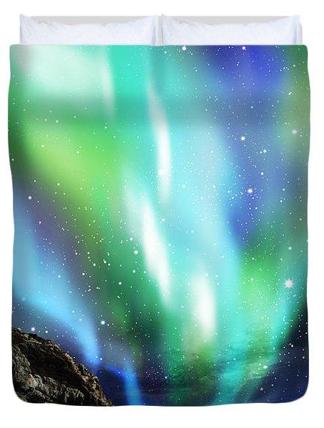 Dramatic Aurora Duvet Cover