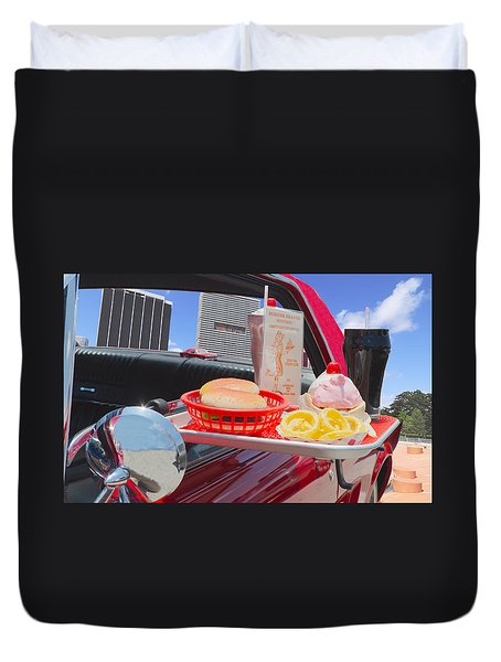 Drive In Duvet Cover by Rudy Umans