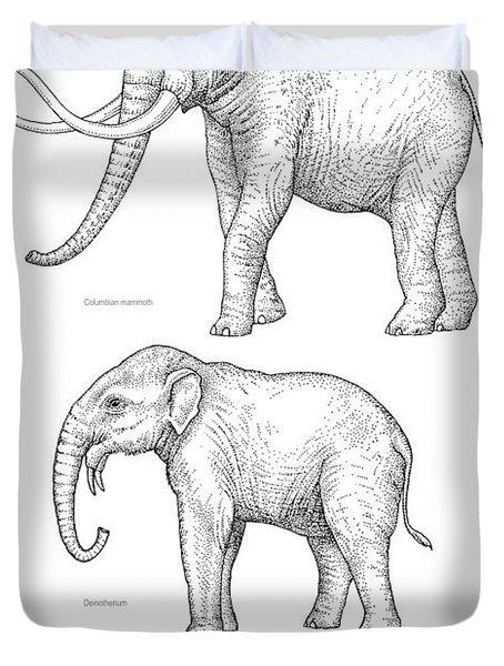Elephant Evolution, Artwork Duvet Cover