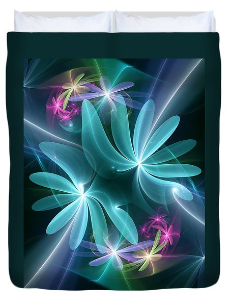 Ethereal Flowers Duvet Cover
