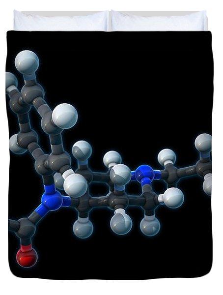Fentanyl, Molecular Model Duvet Cover