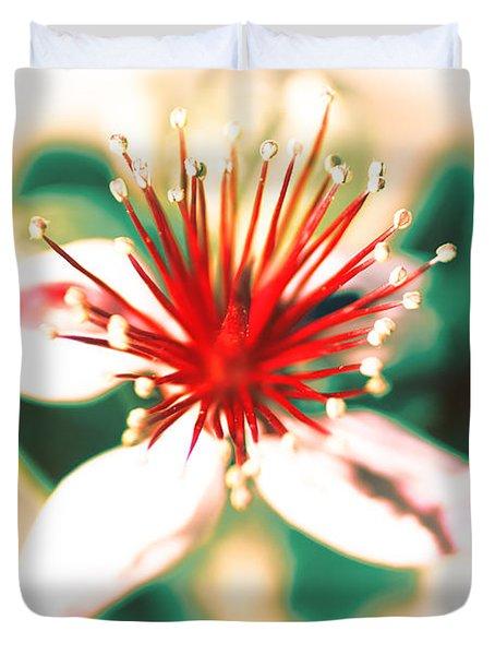 Duvet Cover featuring the photograph Flower by Gunter Nezhoda