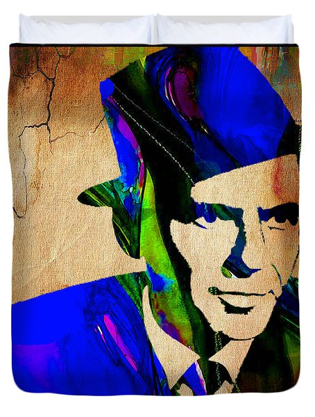 Frank Sinatra Painting Duvet Cover by Marvin Blaine