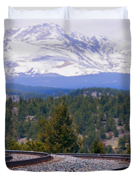 Freight On The Divide Duvet Cover