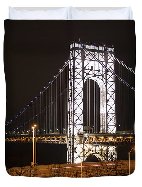 George Washington Bridge On President's Day Duvet Cover