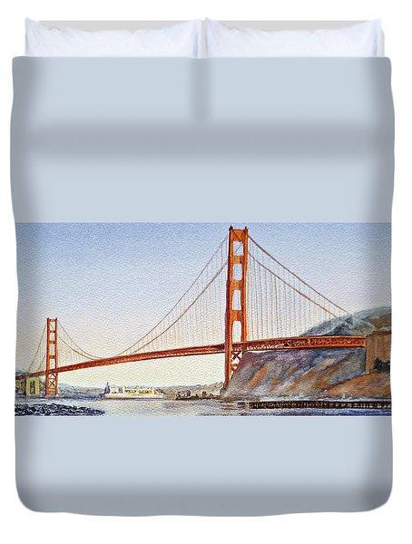 Golden Gate Bridge San Francisco Duvet Cover