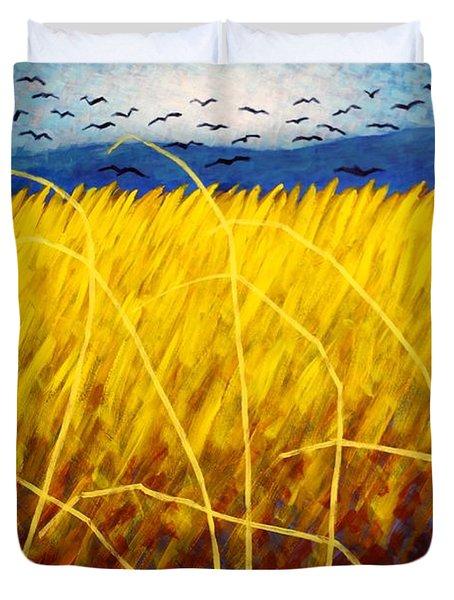 Homage To Van Gogh Duvet Cover by John  Nolan