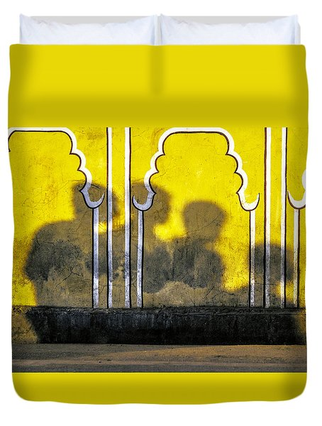 4 Is Company Duvet Cover