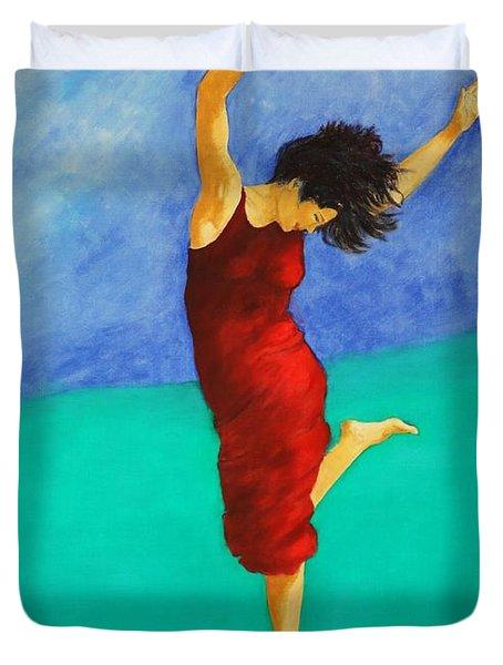 Jump Of Joy Duvet Cover