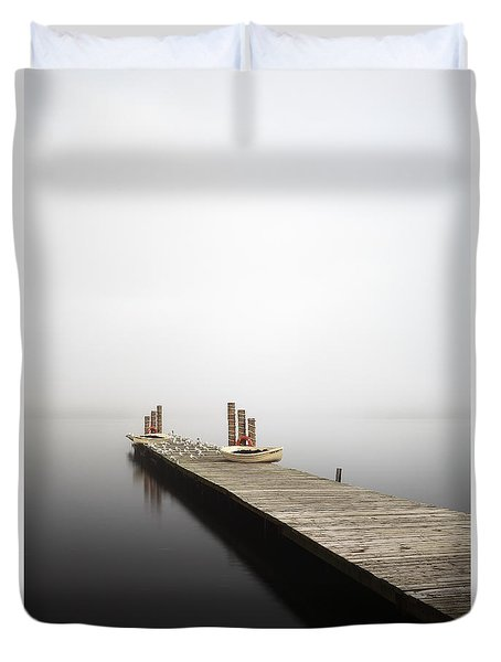 Duvet Cover featuring the photograph Loch Lomond Jetty by Grant Glendinning