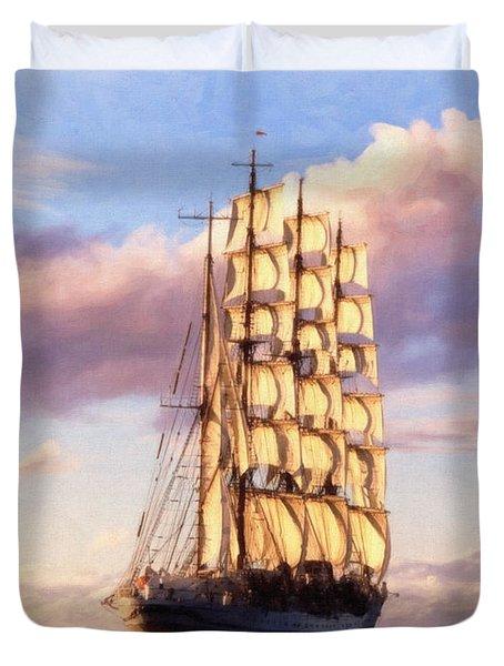4 Mast Barque Duvet Cover