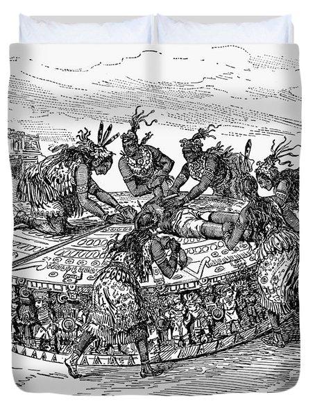 Mexico Aztec Sacrifice Duvet Cover