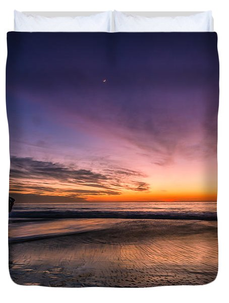 4 Mile Beach Sunset Duvet Cover