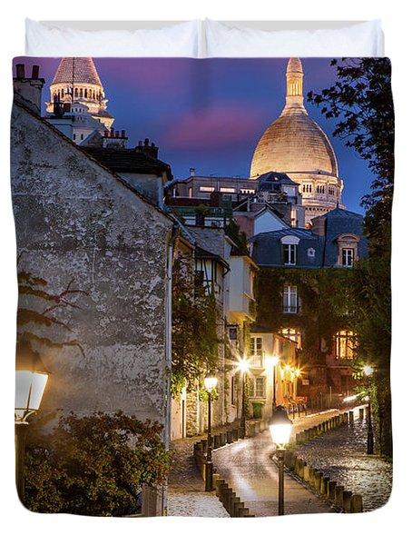 Montmartre Twilight Duvet Cover by Brian Jannsen