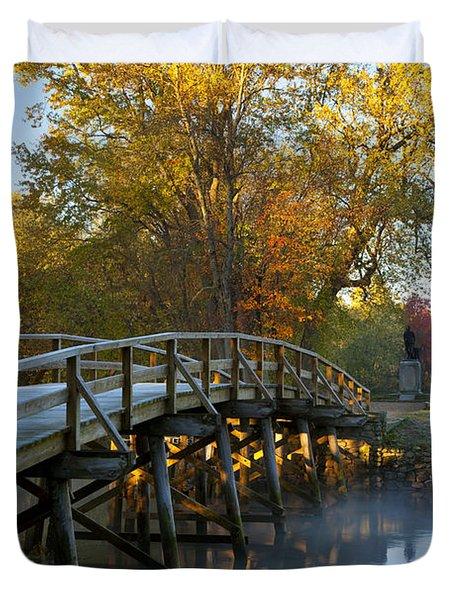 Old North Bridge Concord Duvet Cover by Brian Jannsen