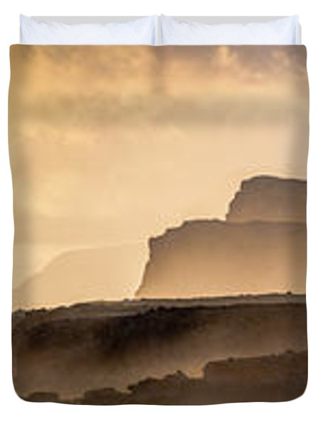 Panoramic Of Molokais North Shore Sea Duvet Cover