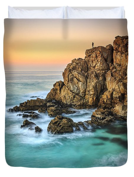 Penencia Point Galicia Spain Duvet Cover by Pablo Avanzini
