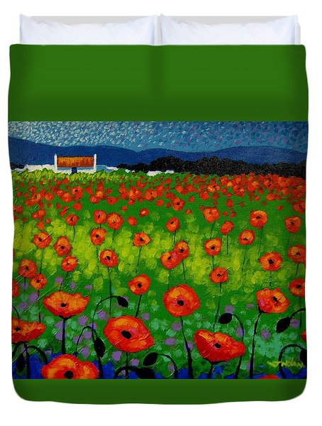 Poppy Field Duvet Cover by John  Nolan