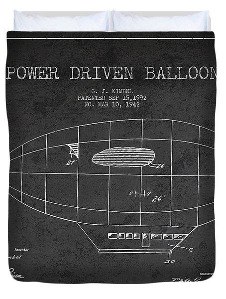 Power Driven Balloon Patent Duvet Cover