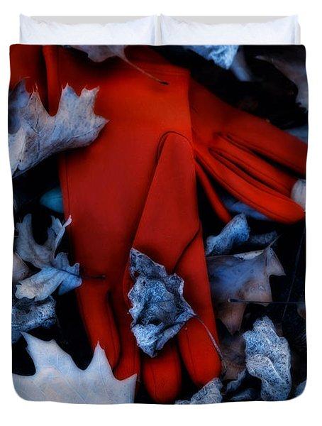 Red Gloves Duvet Cover by Joana Kruse