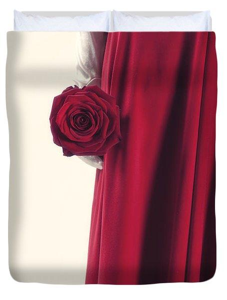 Red Rose Duvet Cover by Joana Kruse