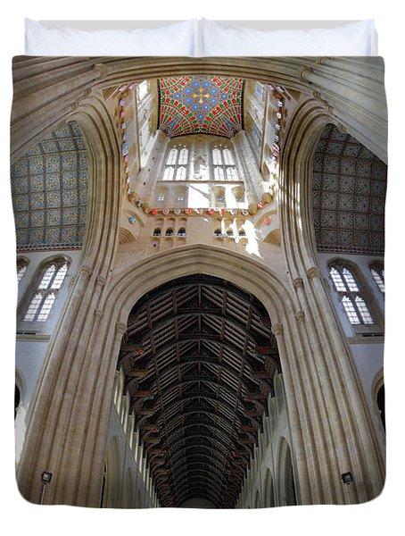 St Edmundsbury Cathedral  Duvet Cover by Nicholas Burningham
