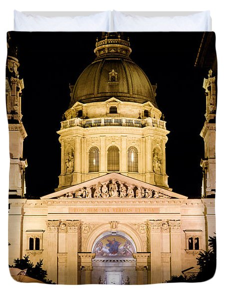 St. Stephen's Basilica In Budapest Duvet Cover by Michal Bednarek