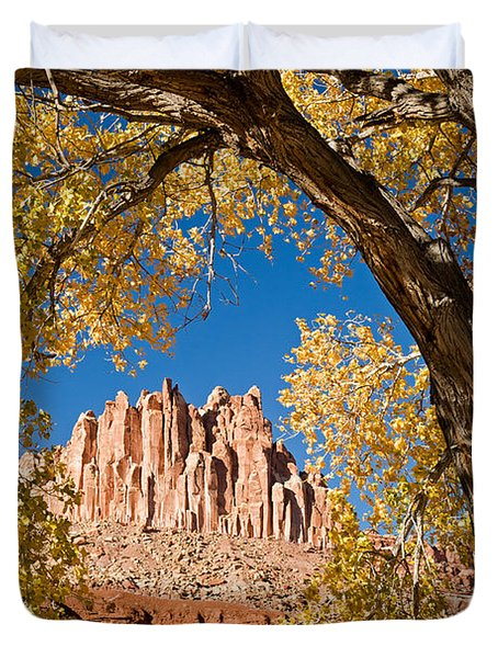 The Castle Capitol Reef National Park Duvet Cover