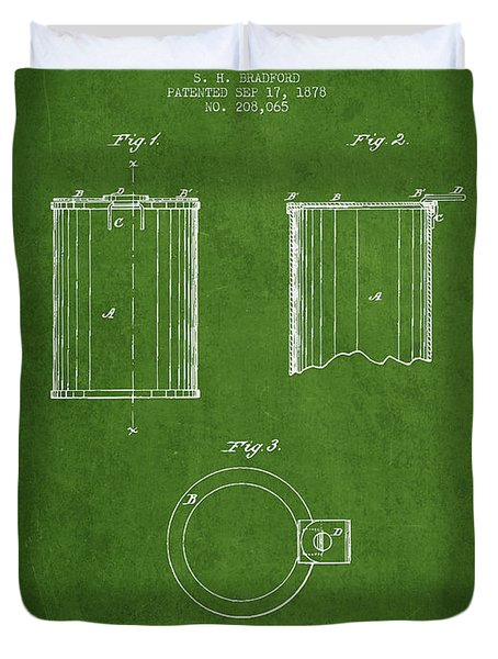 Tin Can Patent Drawing From 1878 Duvet Cover