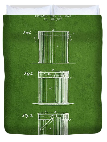Tin Cans Patent Drawing From 1878 Duvet Cover