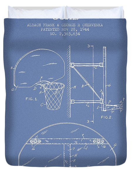 Vintage Basketball Goal Patent From 1944 Duvet Cover by Aged Pixel