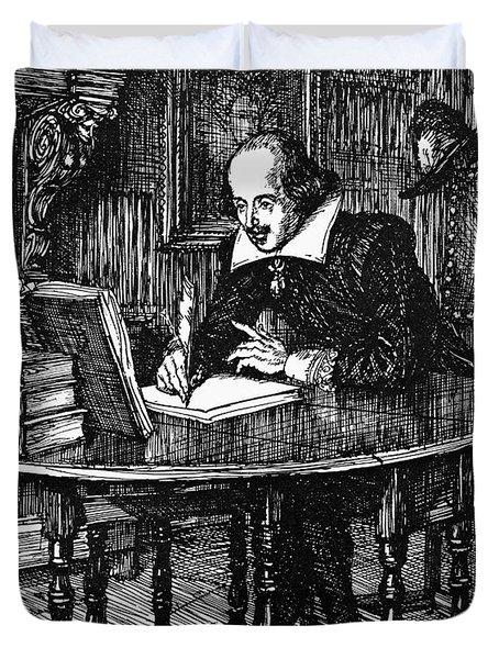 William Shakespeare (1564-1616) Duvet Cover